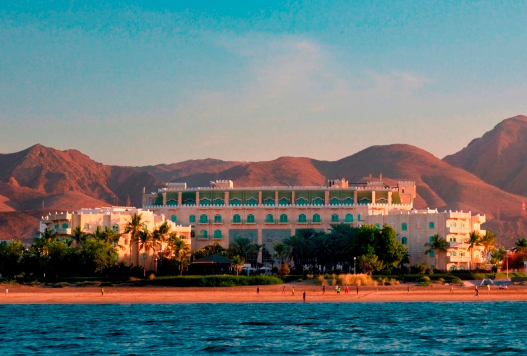 Grand Hyatt Muscat Exterior from the Sea