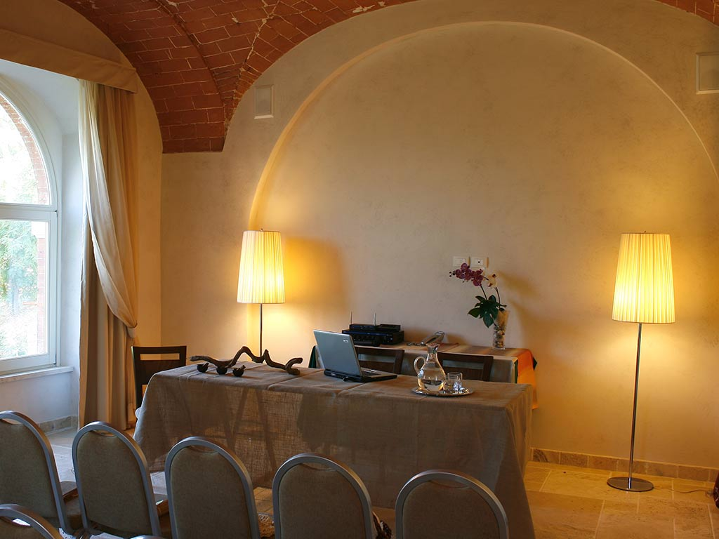 events hall with seats presentation desk Hotel Certaldo
