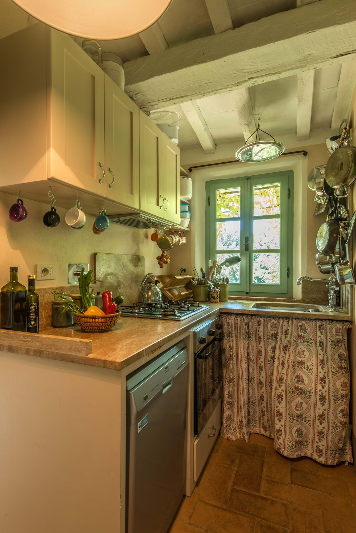 kitchen with hobs, oven and dishwasher Villa La Torretta