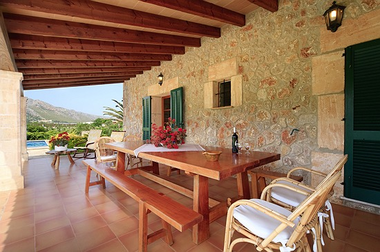 Terrace Dining Area Villa Pedra Vista