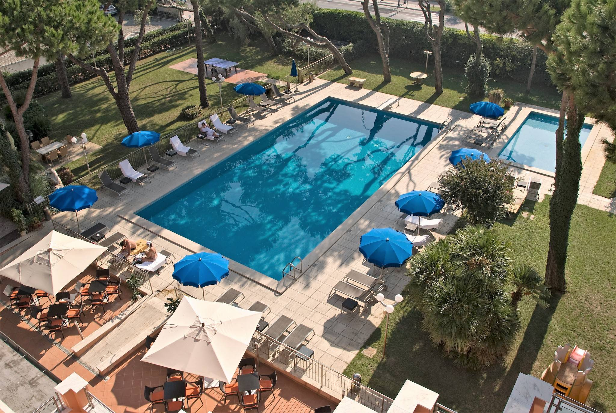 Versillia Palace Hotel Ariel View of Pool