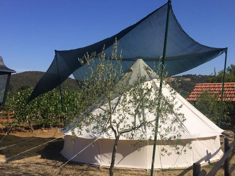 white tent Le Selvole Farmhouse