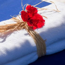 Flowers on Towels The Sindbad