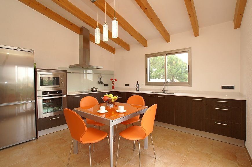 Dining Area and Kitchen Villa Embat