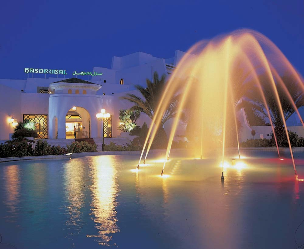 Hasdrubal Thalassa and Spa in Port El Kantaoui Fountain in the Evening
