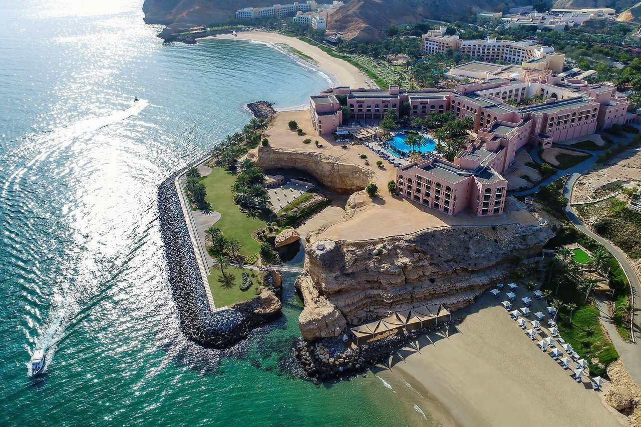 Ariel view of Shangri-La Al Husn Resort & Spa