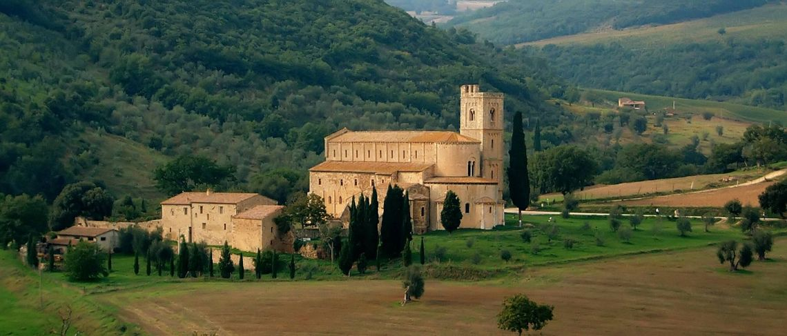 San Sant'Antimo - a large church in Tuscany, Italy