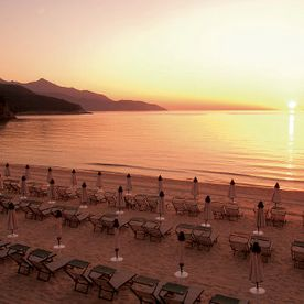 Hotel Biodola Beach at Sunset